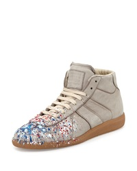 Maison Martin Margiela Maison Margiela Replica Paint Splatter High Top Sneaker Gray