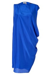 Lanvin Electric Blue Silk Dress