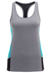 Evenandodd Active Vest Mottled Grey