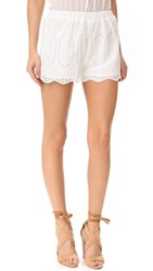 Liv Ellis Eyelet Shorts White
