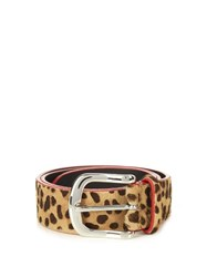 Isabel Marant Leopard Calf Hair Belt