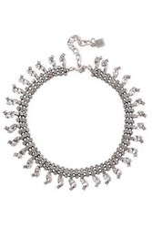 Dannijo Woman Burnished Silver Tone Crystal Necklace Silver