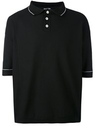 Raf Simons Oversized Polo Shirt Men Polypropylene One Size Black