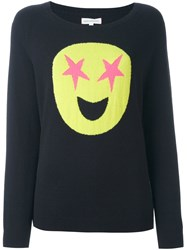 Chinti And Parker Star Emoji Sweater Blue