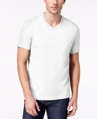Club Room Men's Solid V Neck T Shirt Created For Macy's Bright White