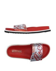 Moschino Footwear Sandals Men Red