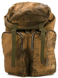 Golden Goose Deluxe Brand Distressed Backpack Brown