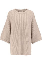 Brunello Cucinelli Metallic Cashmere Blend Sweater Blush