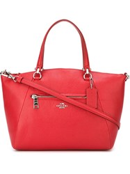 Coach Top Zip Tote Red