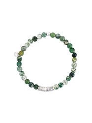 Tateossian Beaded Bracelet Green