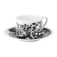 Fornasetti High Fidelity Teacup And Saucer Fiorato