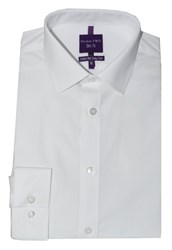 Double Two Slim Fit Formal Shirt White