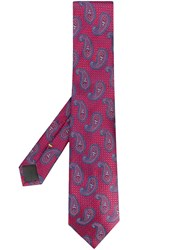 Canali Paisley Tie Red