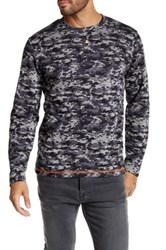 Smash Long Sleeve Digital Camo Knit Shirt Gray
