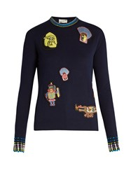 Peter Pilotto Amex X Francis Upritchard Sweater Navy Multi
