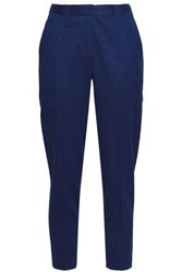 Vionnet Wool Blend Twill Tapered Pants Royal Blue