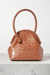 Louise Et Cie Isel Croc Effect Leather Tote Light Brown
