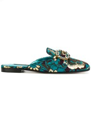 Dolce And Gabbana Jackie Mules Blue