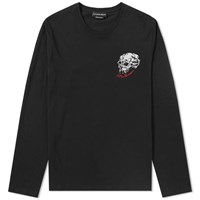 Alexander Mcqueen Long Sleeve Multi Skull Tee Black