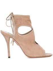 Aquazzura Sexy Thing Sandals Nude Neutrals