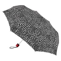 Lulu Guinness Lips Colour Change Superlite Umbrella Black White