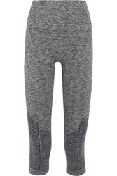 Lndr Stride Cropped Stretch Knit Leggings Gray