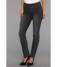 Jag Jeans Peri Pull On Straight In Thunder Grey Thunder Grey Women's Gray