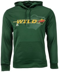 Majestic Men's Minnesota Wild Let Loose Synthetic Hoodie Darkgreen