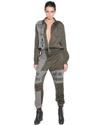 A.F.Vandevorst Embroidered Techno Fluid Jumpsuit Military Green