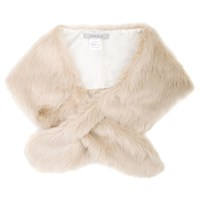 Chesca Faux Fur Collar Champagne