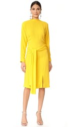 Salvatore Ferragamo Long Sleeve Dress Yellow