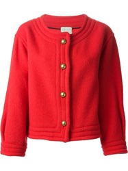 Forte Forte Buttoned Cropped Jacket Red