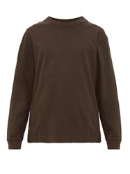 Mhl By Margaret Howell Long Sleeved Cotton Jersey T Shirt Black