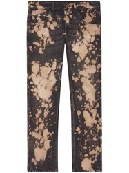Gucci Bleached Denim Tapered Pant Men Cotton 33 Black