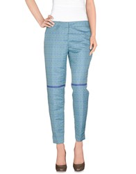 Pierre Balmain Trousers Casual Trousers Women Turquoise