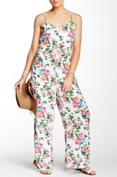 Romeo And Juliet Couture Printed Palazzo Jumpsuit White