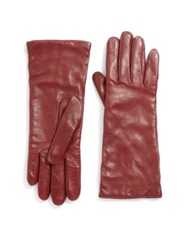 Saks Fifth Avenue Cashmere Lined Leather Gloves Burgundy Royal Blue Purple Grey