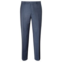 Paul Costelloe Super 110S Wool Flannel Modern Fit Suit Trousers Airforce
