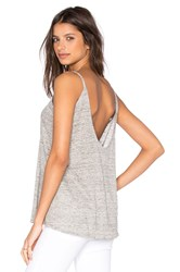 Chaser Scoop Back Flounce Tank Gray
