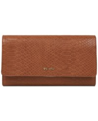 Nine West Embossed Continental Wallet Tobacco