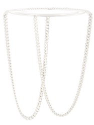 Maison Martin Margiela Chain Link Choker Necklace Metallic