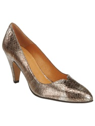 Phase Eight Abby Leather Court Shoes Copper