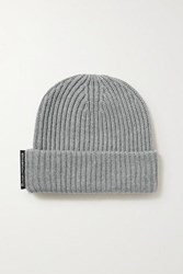 Alexander Wang Ribbed Merino Wool Beanie Gray