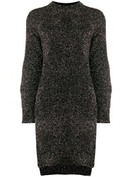 Nude Sheen Knitted Dress Black