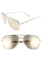 Juicy Couture Women's Shades Of 59Mm Aviator Sunglasses Light Gold