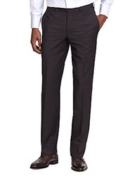 Jack Victor Wool Micro Check Trousers Black