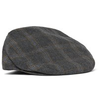 Kingsman Lock And Co Hatters Prince Of Wales Checked Wool Flat Cap Gray