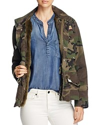 Jocelyn J. Military Camo Fur Lined Field Jacket 100 Bloomingdale's Exclusive Green Camo