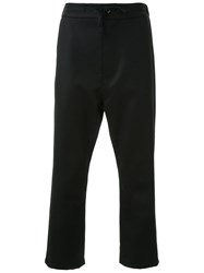 Fad Three Cropped Drawstring Trousers Black