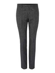 Label Lab Mimosa Skinny Fit Mouline Overcheck Suit Trouser Grey